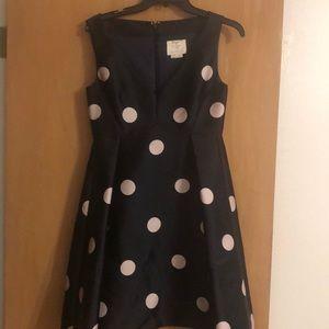 EUC Kate Spade Dress Navy and Pale Pink Polka Dots